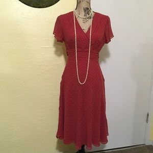 Vintage Adrianna Papell Silk Dress